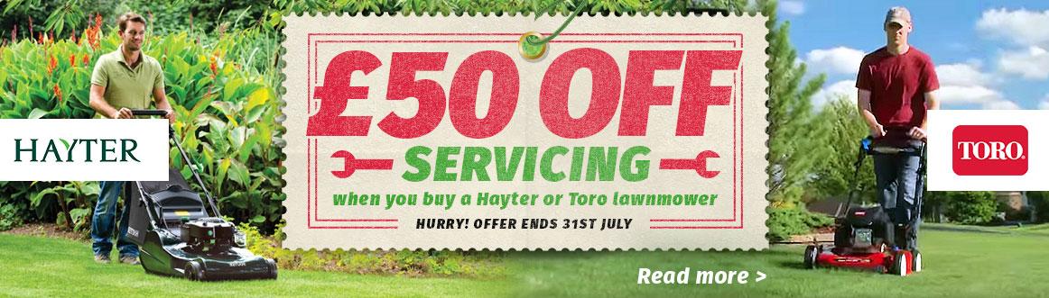 £50 off service lawnmower hayter toro doncaster